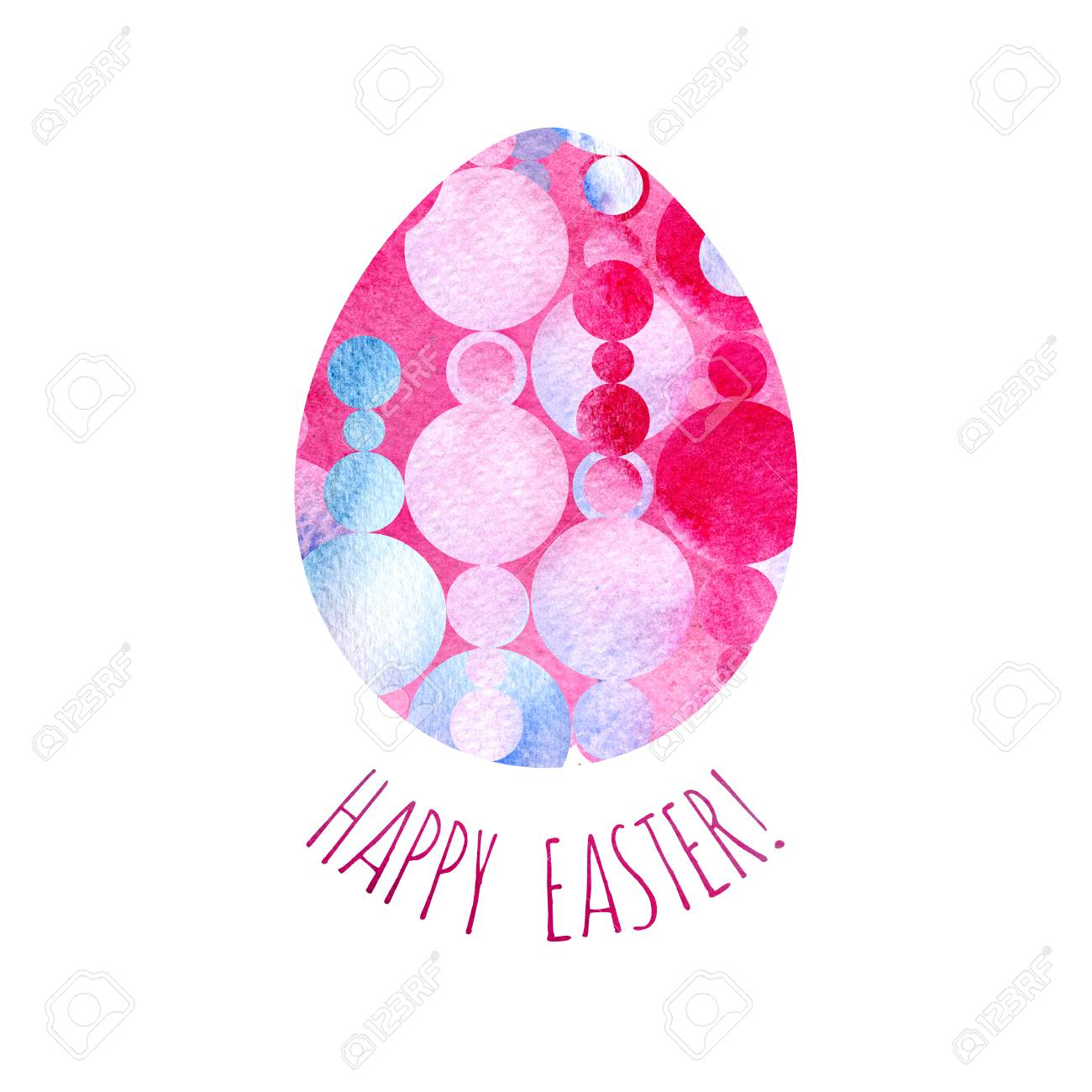 modern happy easter template for greeting card or invitation stock