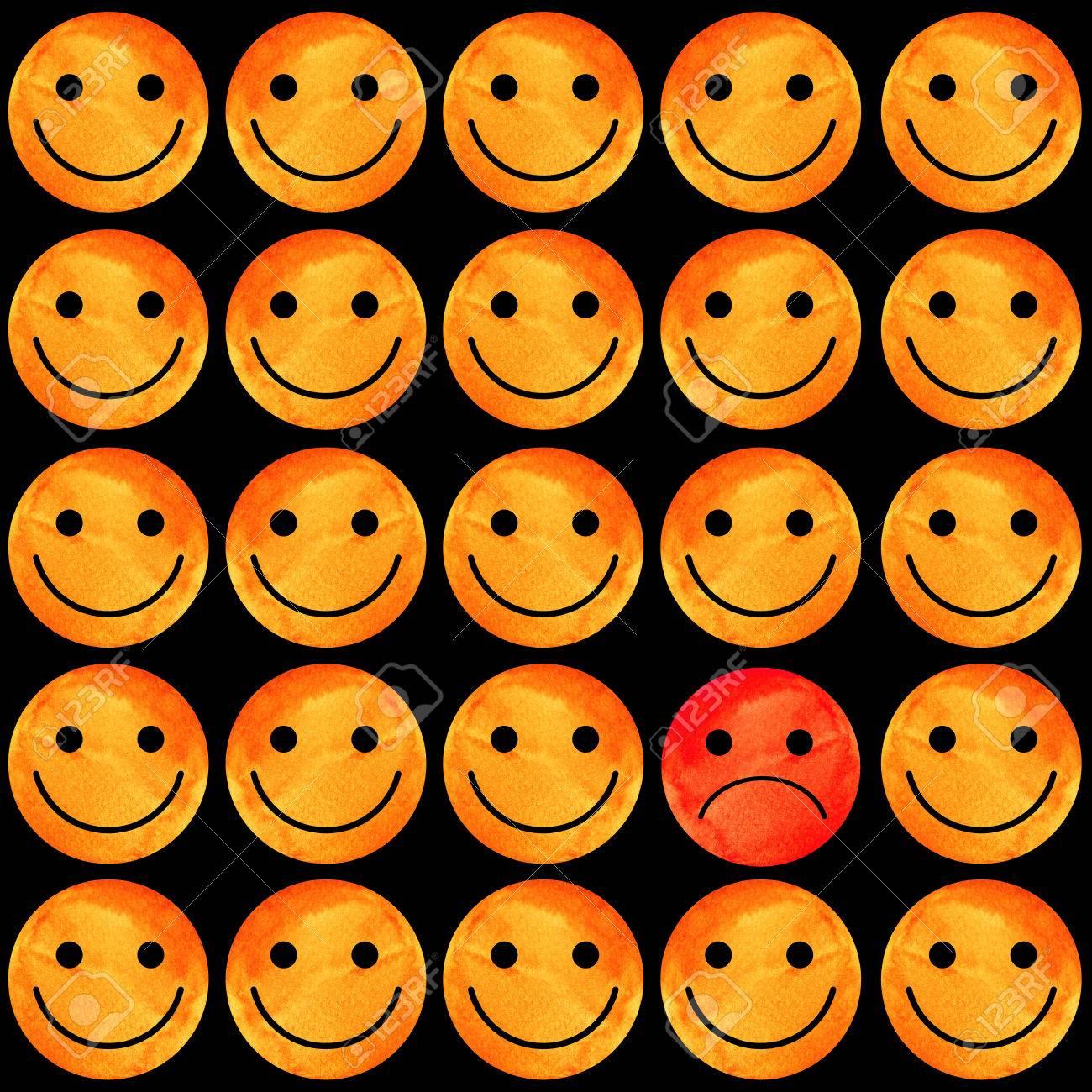 Crowd Of Smiling Emoticons Smiles Icon Pattern Modern Pattern
