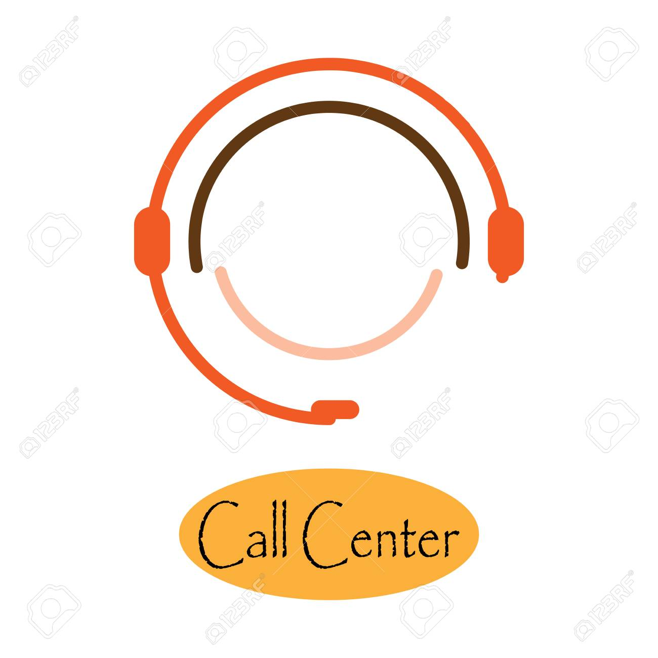 icon emblem of the call center logo with headset on head vector royalty free cliparts vectors and stock illustration image 111711913 icon emblem of the call center logo with headset on head vector