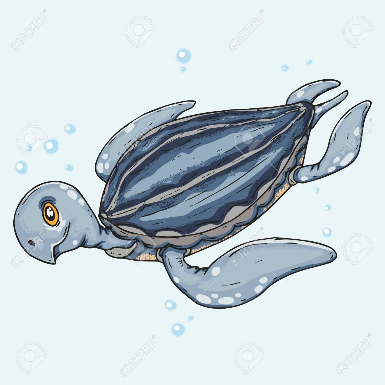 Sea Turtle Icon Vector Illustration Of A Cute Sea Turtle Hand