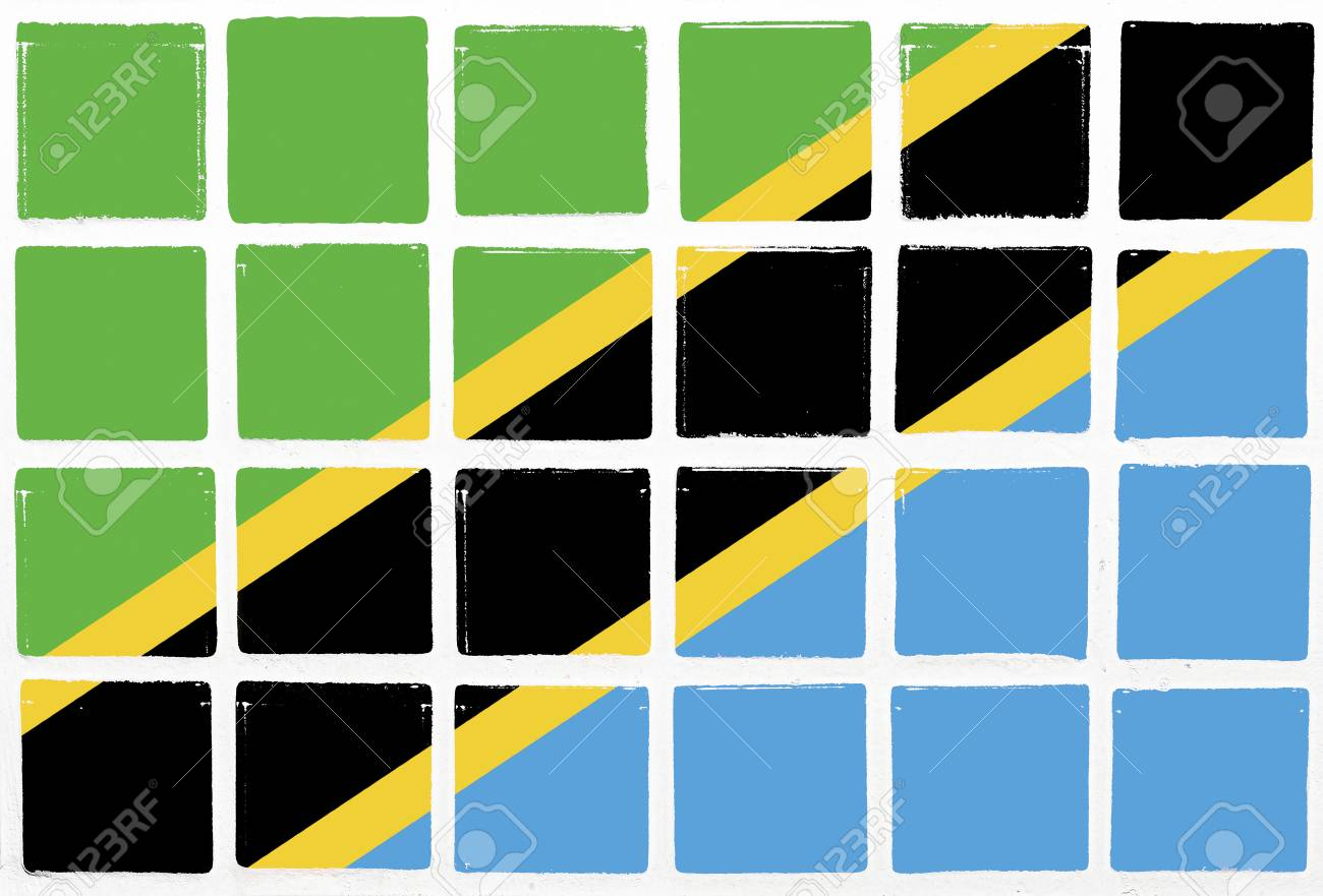 Glazed tiles tanzania flag