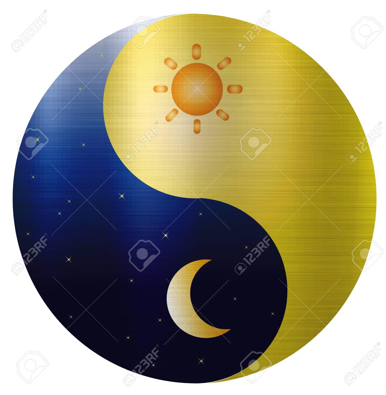 Ying Yang Sun Moon Harmony Spiritual Stock Photo Picture And