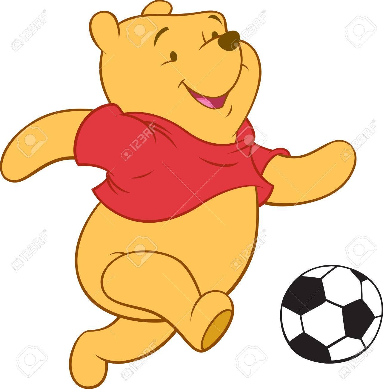 Winnie The Pooh Ilustración Oso Jugando Al Fútbol Fotos Retratos