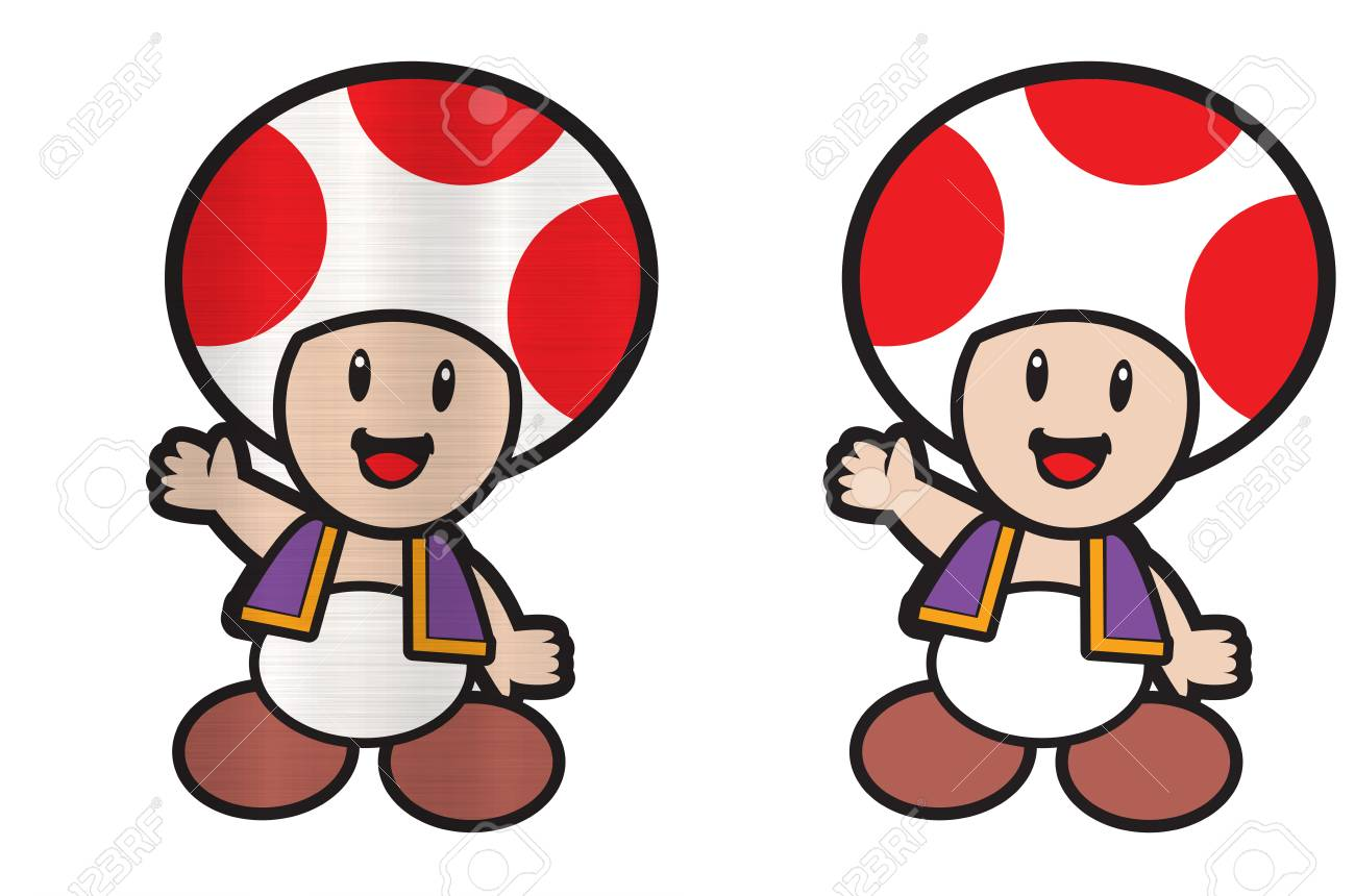 super mario toad mushroom character stock photo picture and royalty rh 123rf com