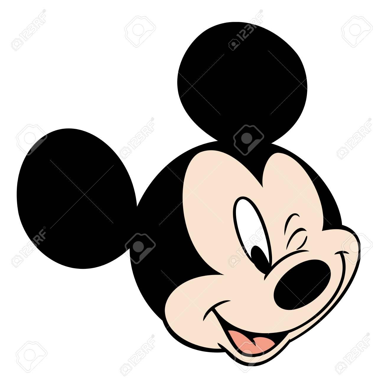 mickey mouse head character cartoon winking eye illustration stock rh 123rf com Minnie Mouse Head Clip Art Clip Art Minnie Mouse Outfit