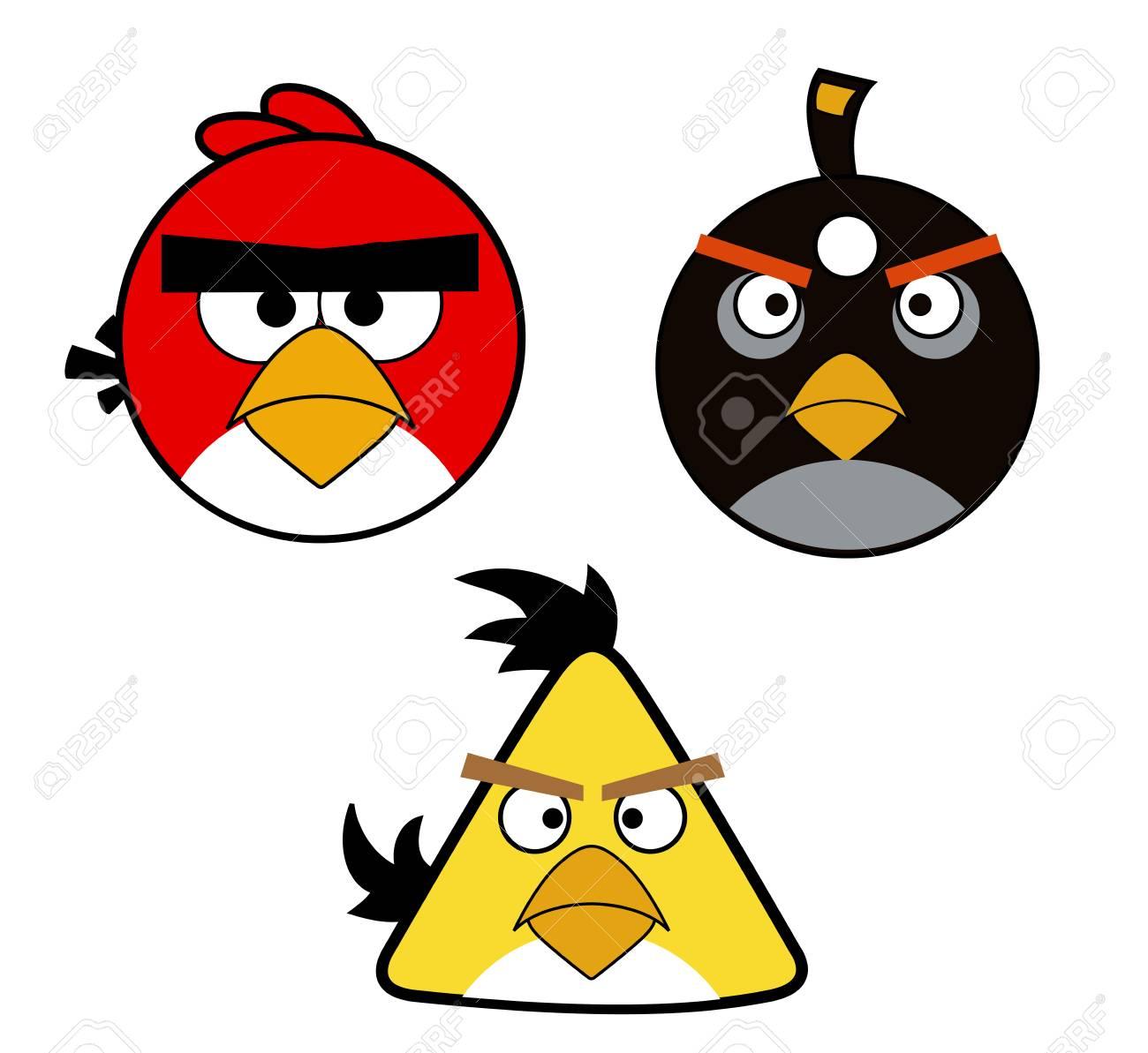angry birds red yellow birdsbomb illustration cartoon