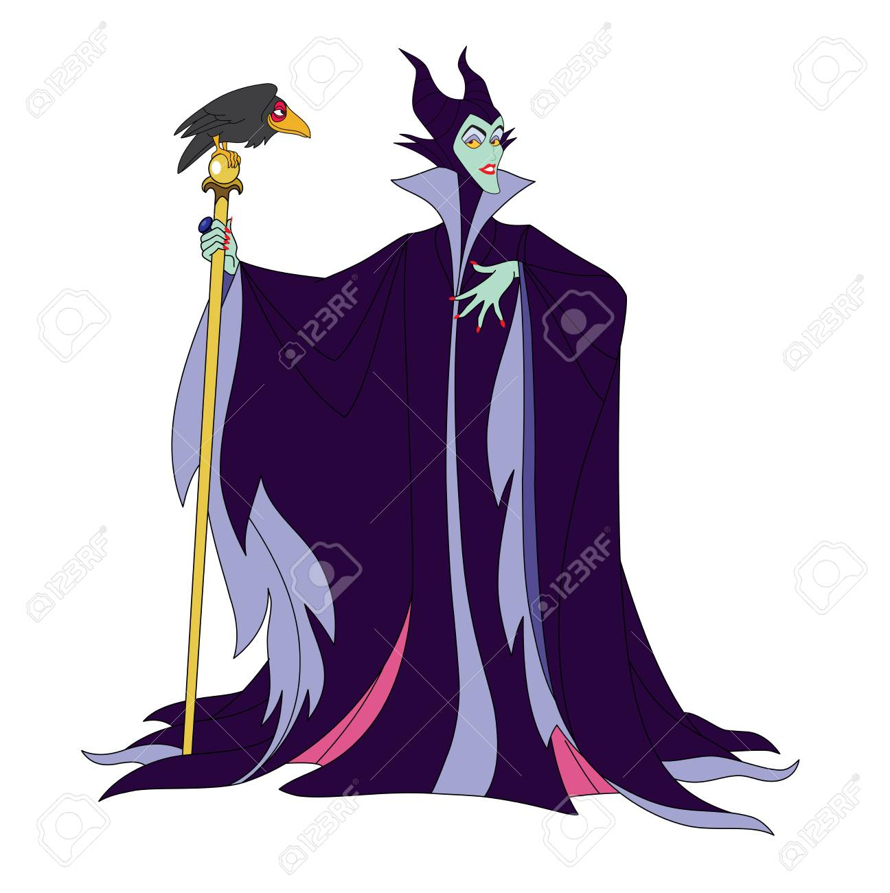 Maleficent Cartoon Illustration Character Evil Fairy