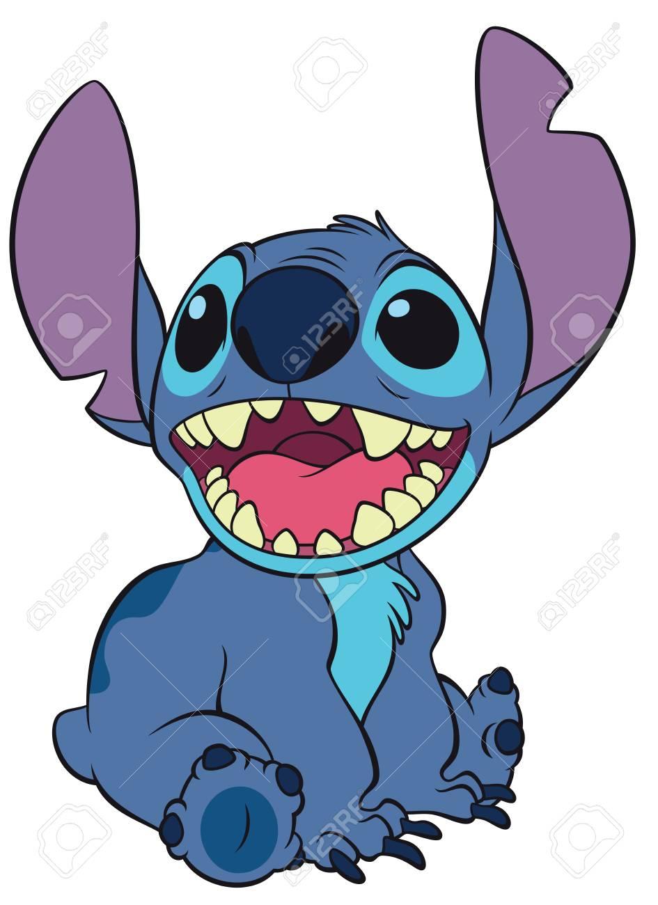 Lilo Stitch Character Illsutration Cute Stock Photo