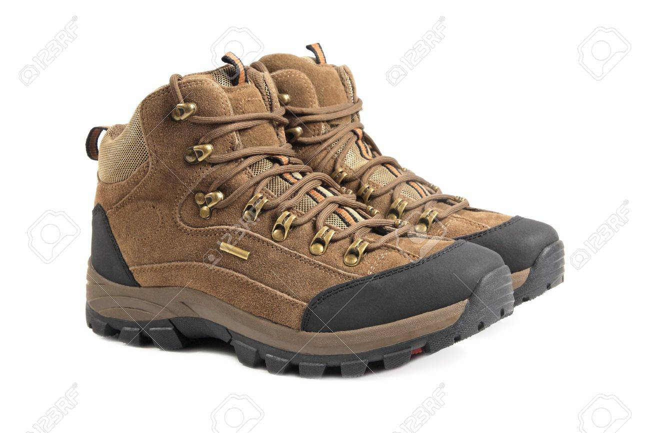 hiking boots isolated on white background Stock Photo - 8685069