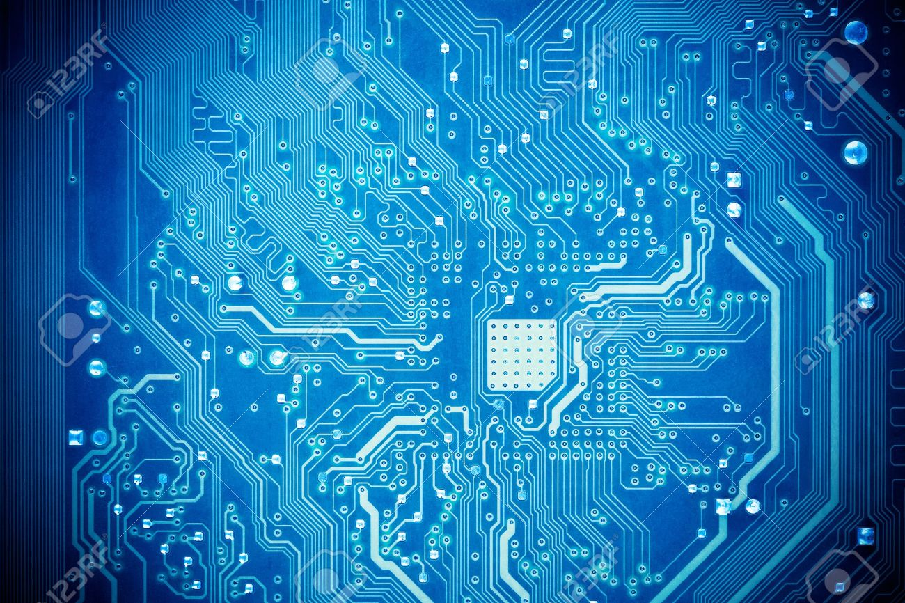 Blue Circuit Board As Abstract Technology Background Stock Photo ...