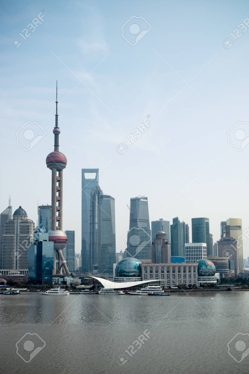 the modern city shanghai pudong,China Stock Photo - 13134628
