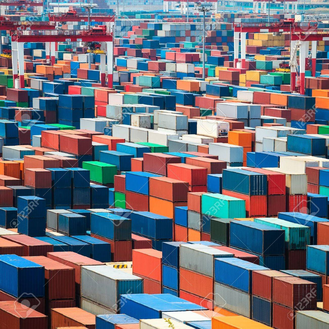 Numerous Shipping Containers In Port Stock Photo Picture And - Shipping containers