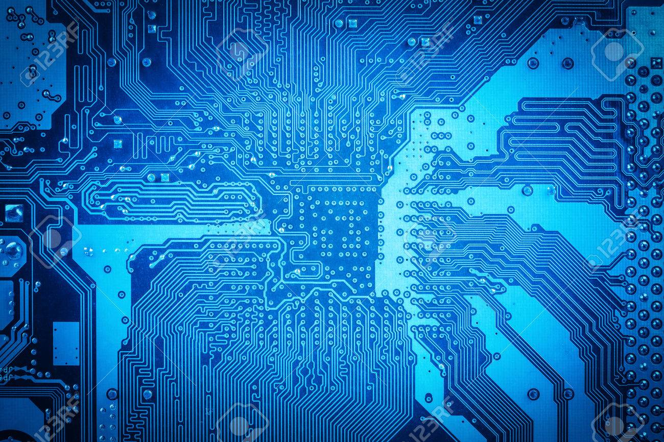 Blue Circuit Board Background,abstract Technology Concept Stock ...