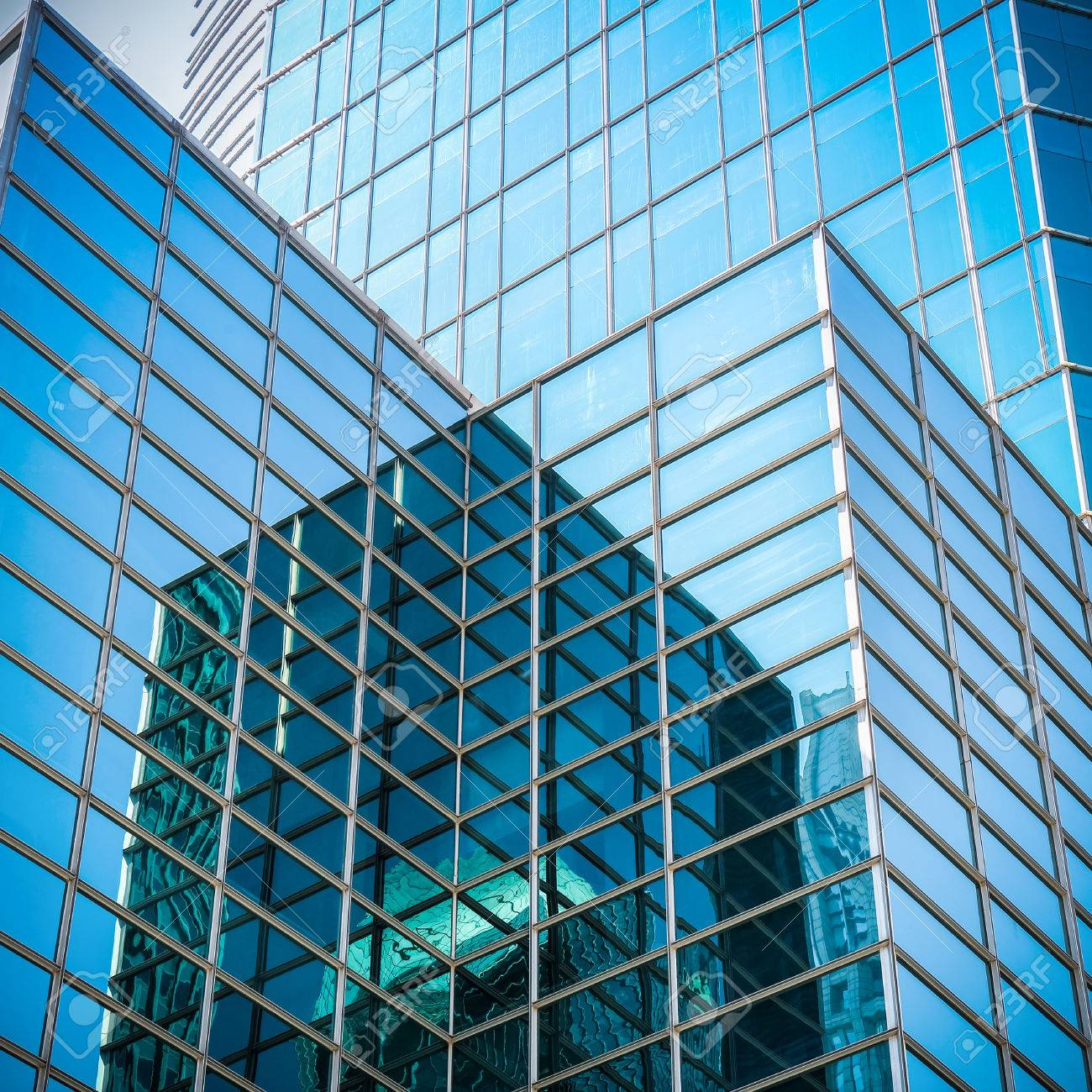 Upward View Of Modern Glass Skyscraper Exterior Of Glass Wall Stock Photo Picture And Royalty Free Image Image 29114356