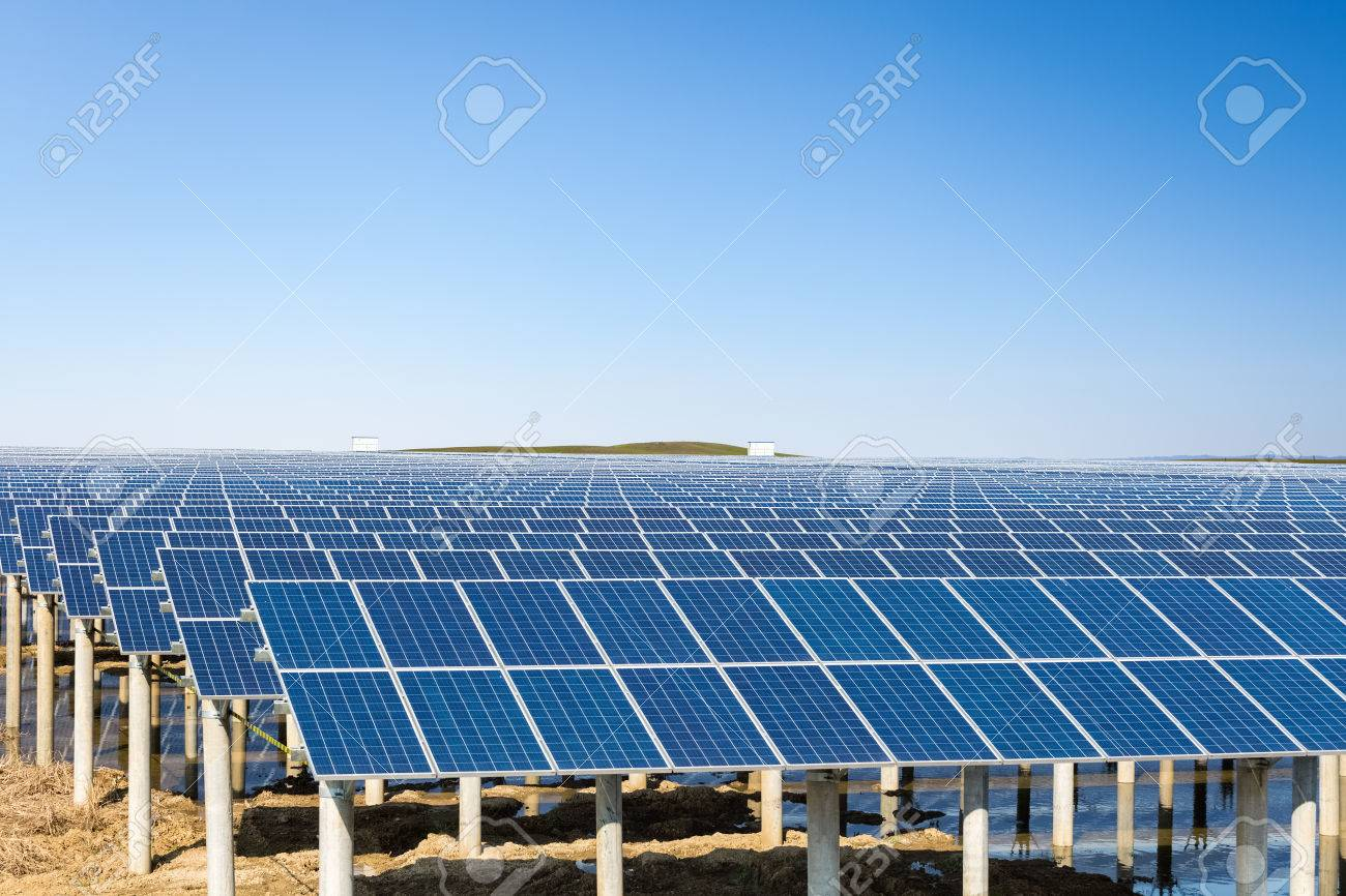 Solar Energy Power Plant Ppt Ace Layout Powerpoint Template Under The Sunny Sky Renewable Background Stock Photo 72018391