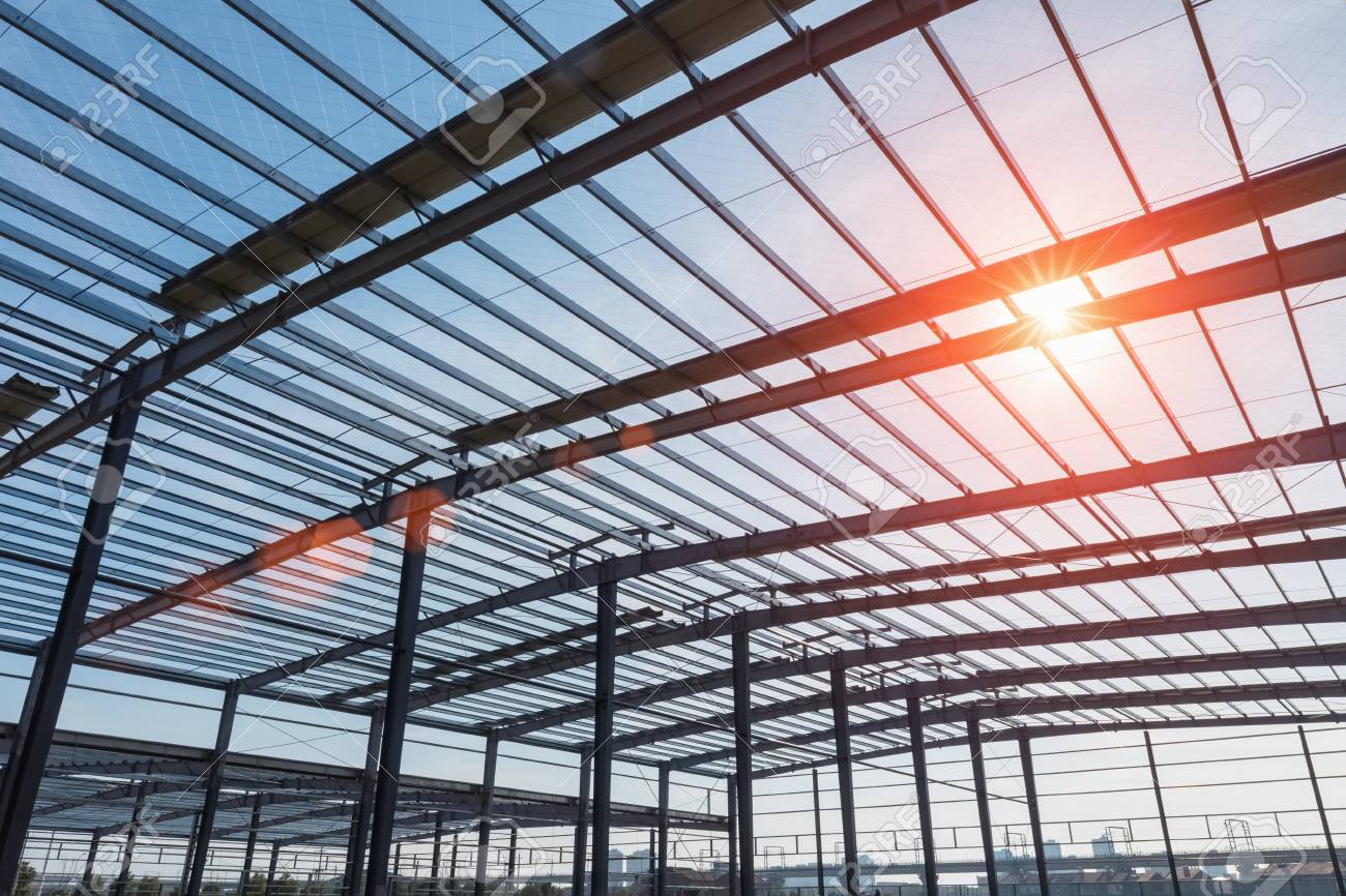 Steel Structure Workshop In Construction, Steel Frame Factory ...
