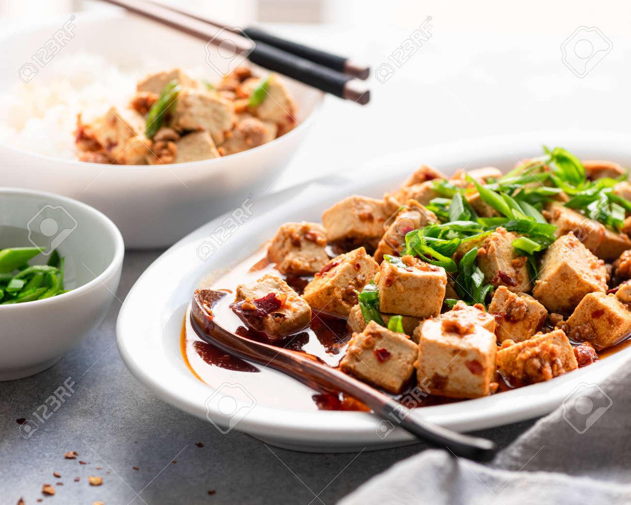 Chili Tofu, traditional chinese dish, selective focus - 169788494