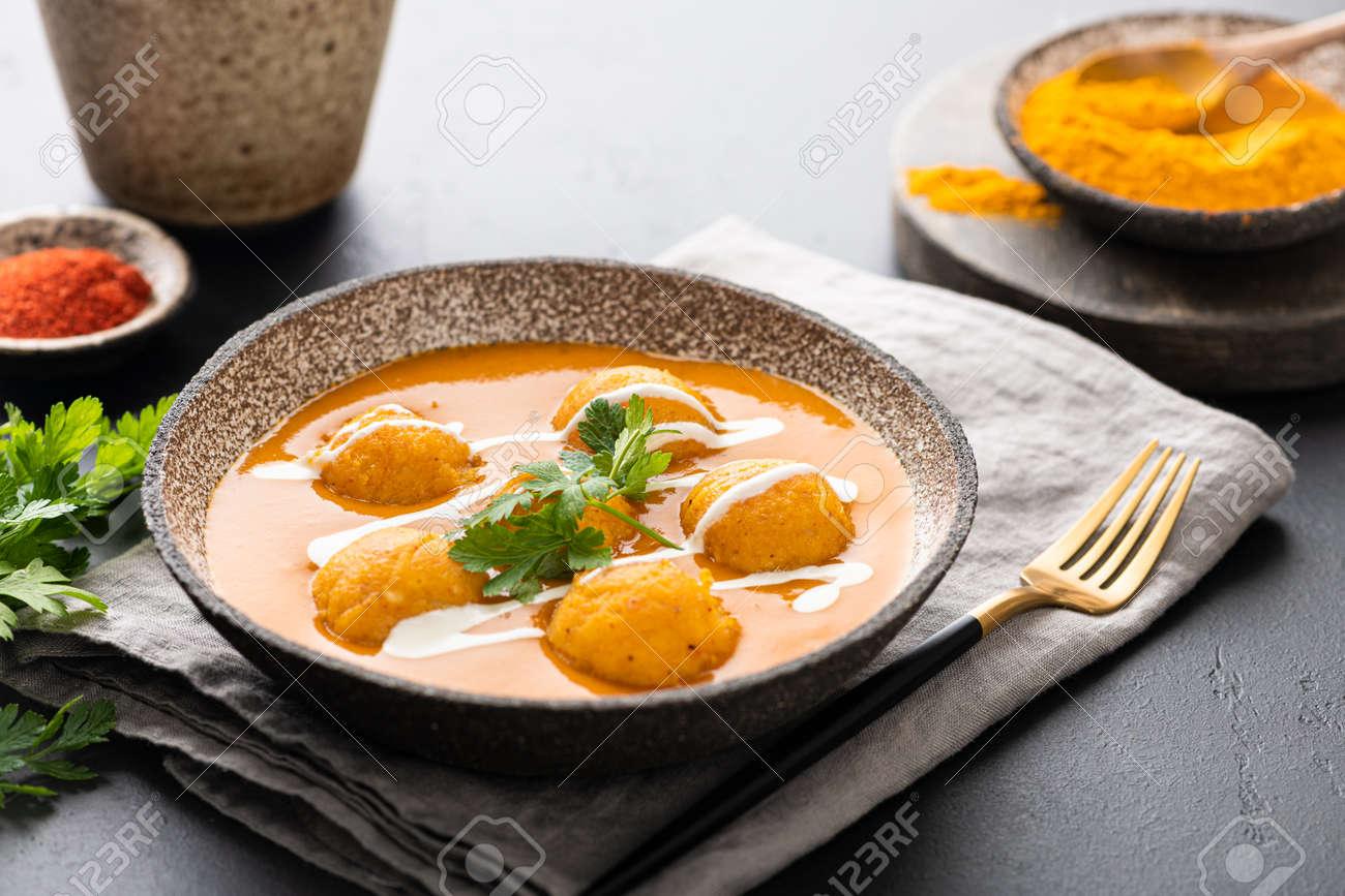 Malai Kofta Curry, indian cuisine dish with potato and paneer cheese - 169788495