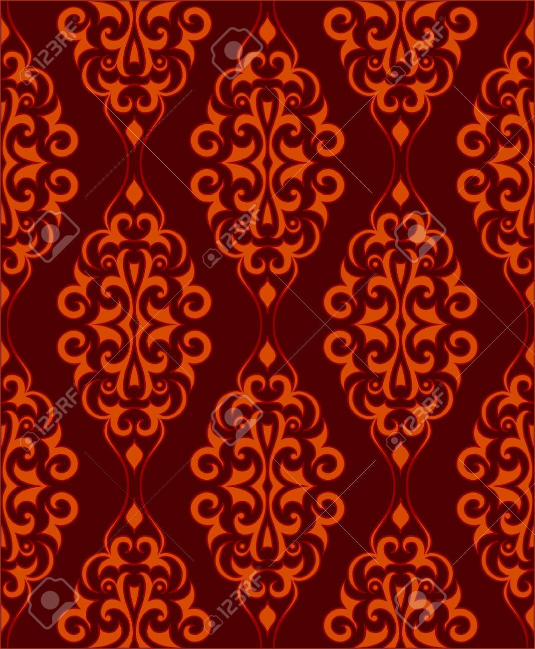 Ornamental wallpaper that will tile seamlessly Stock Vector - 3457314