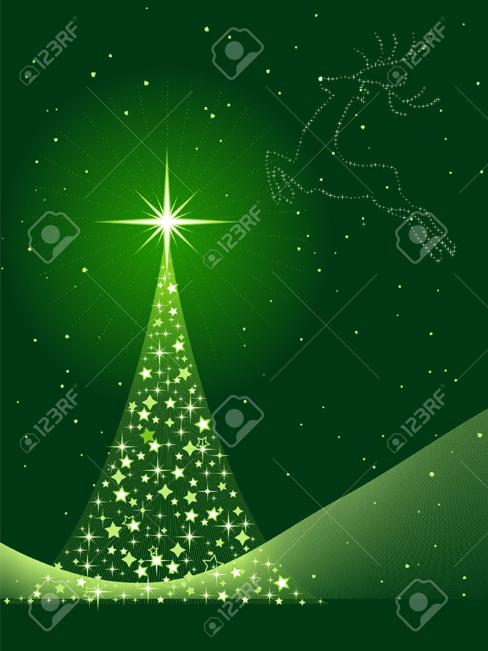 Vertical Green Background For Christmas New Years Eve Showing