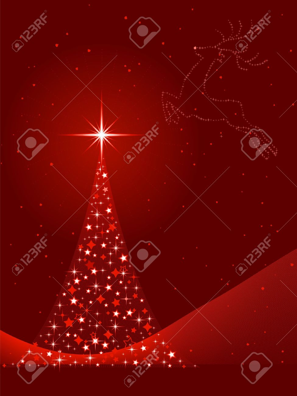 Vertical Red Background For Christmas New Years Eve Showing