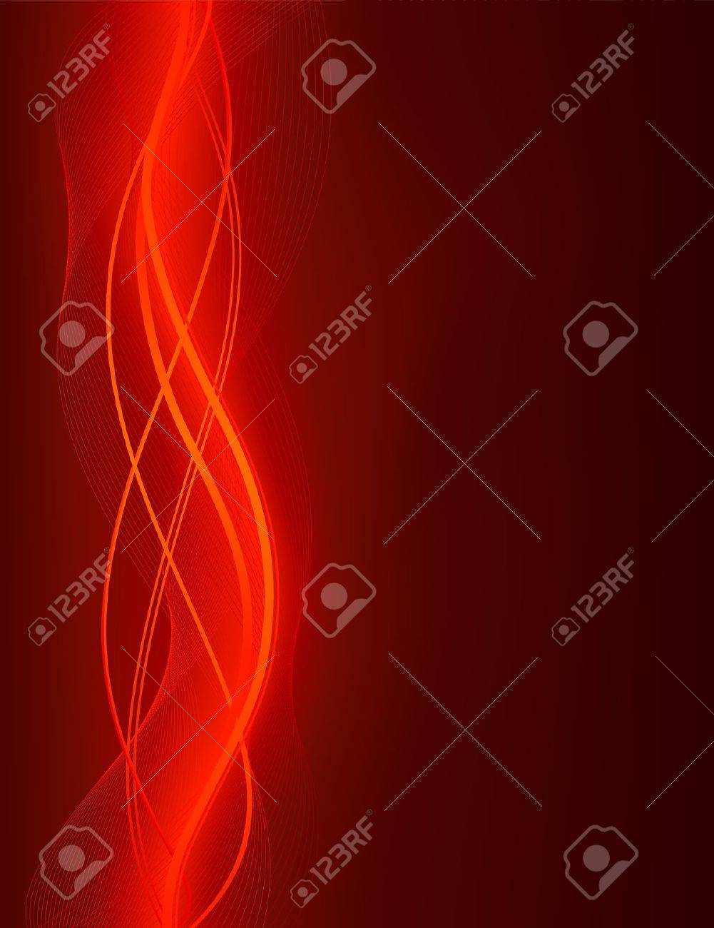 glowing abstract wave background in shades of red use of global