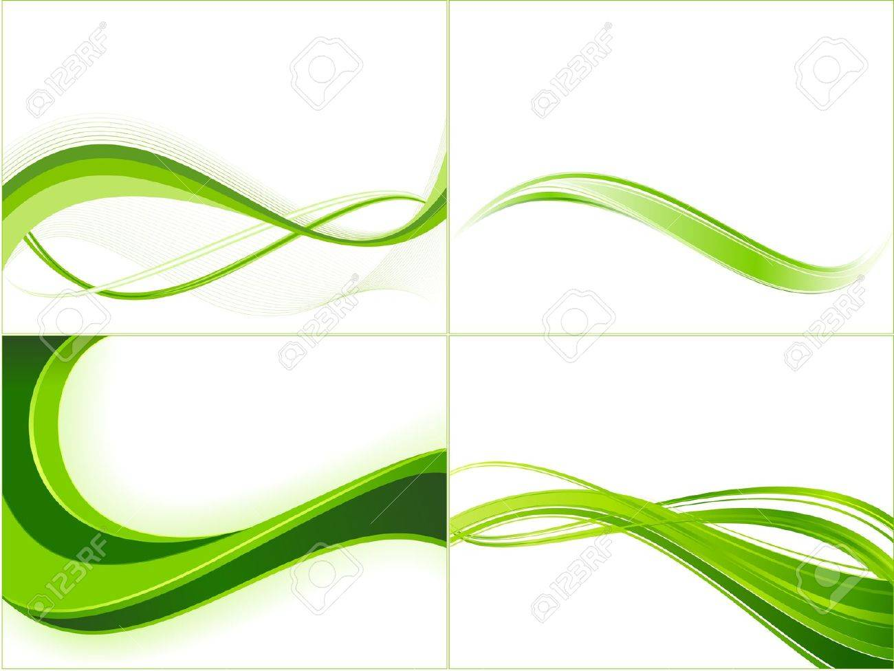 Background image linear gradient - Green Ecology Wave Background Template Abstract Background With Copy Space For Text Linear Gradients