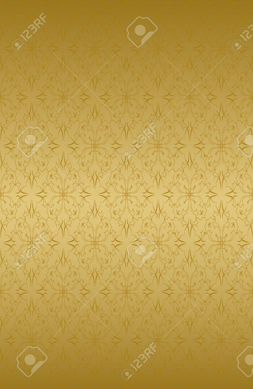 Ornamental wallpaper that will tile seamlessly. Stock Vector - 4433810