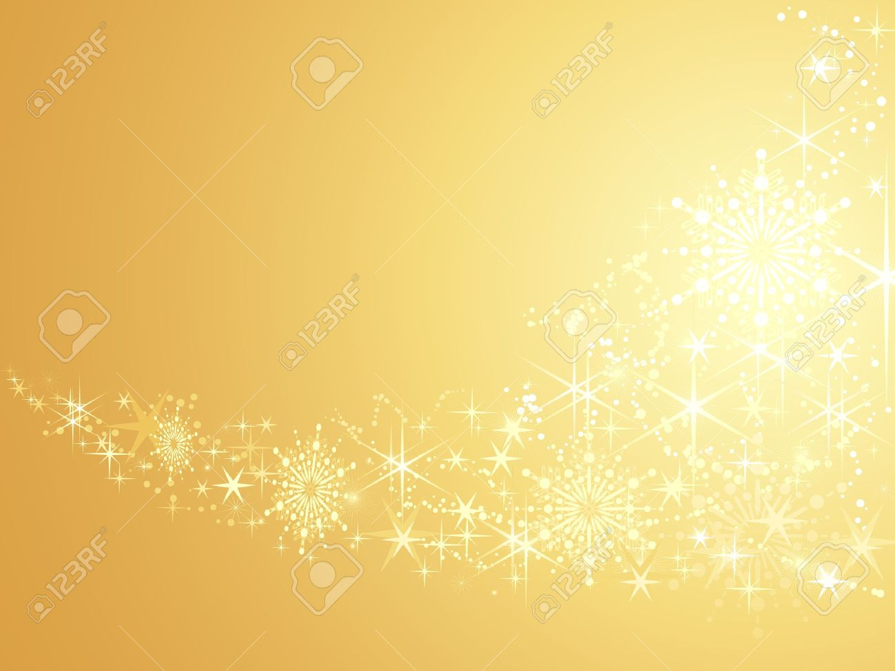 Abstract festive background with shiny stars and snow flakes. Artwork grouped and layered. Use of linear and radial gradients, global color swatches. Stock Vector - 5997897