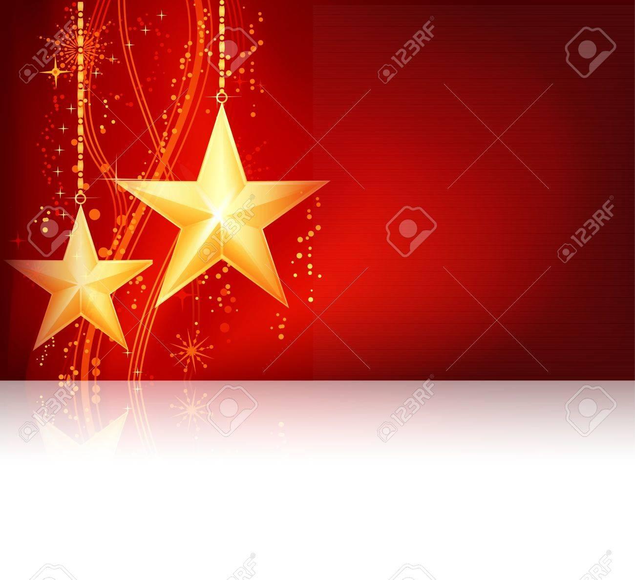 Red golden Christmas theme Stock Vector - 10771576