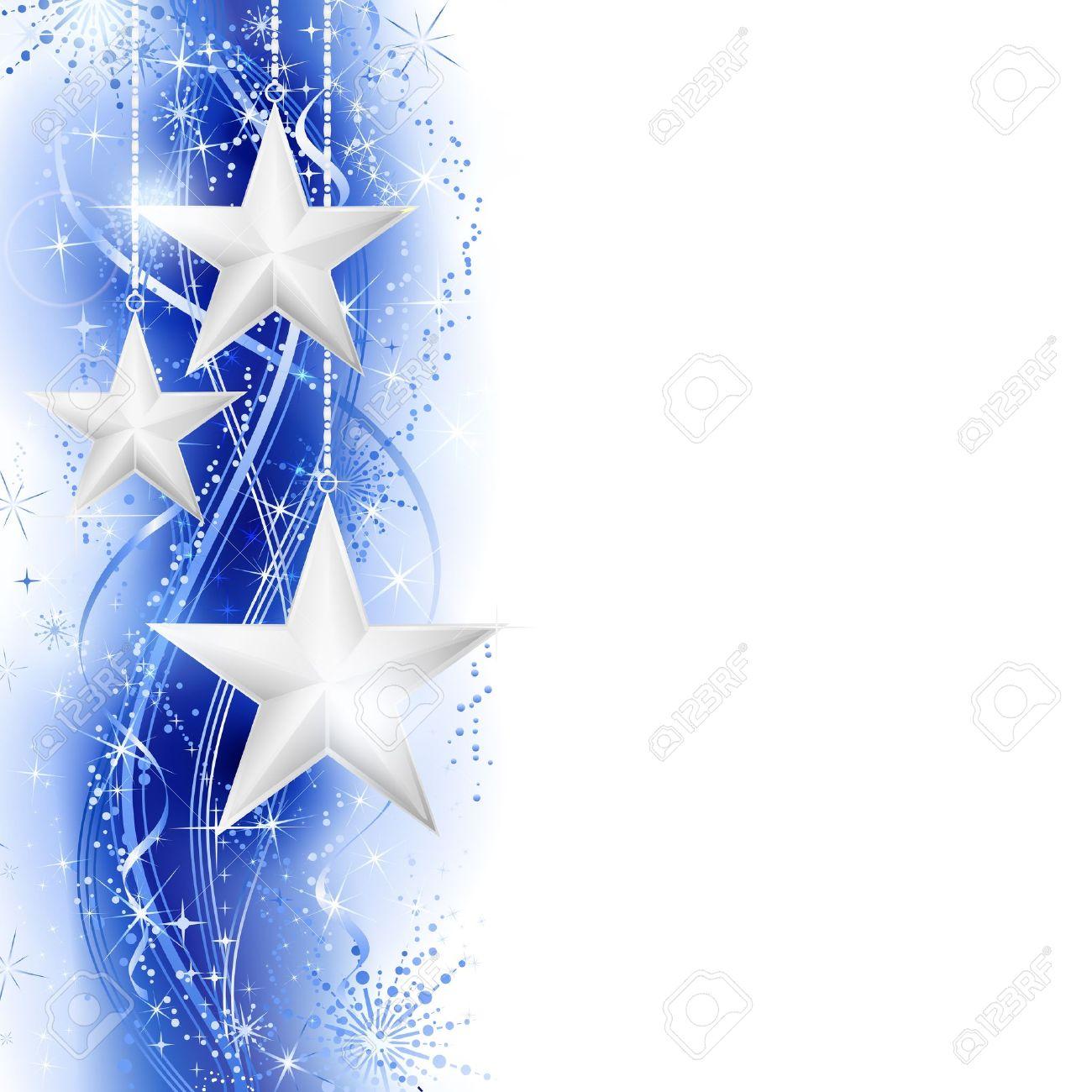 Frontera, Marco Con Estrellas De Plata Colgando Sobre Un Patrón ...