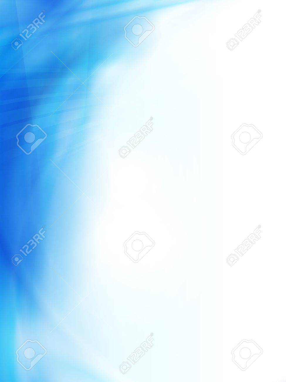 Smooth And Blurry Abstract Background Texture In Shades Of Light And Dark  Blue. Space For
