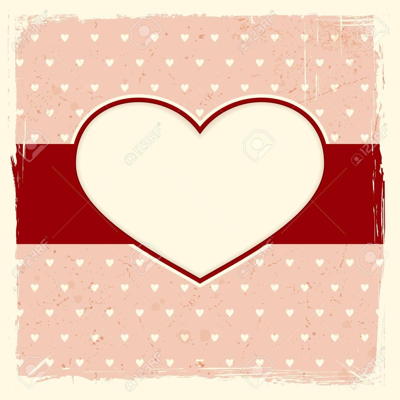 Capítulo Con El Corazón Etiqueta En Fondo Rojo Pálido Afligido Con ...