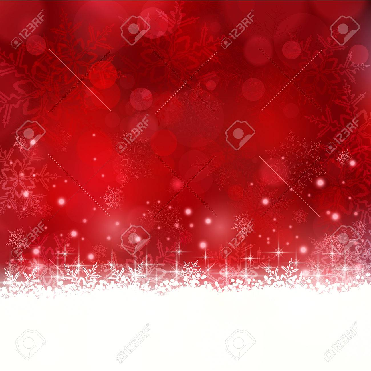 Shiny light effects with blurry lights and glittering snowflakes in shades of red and a wavy contour. Stock Vector - 23848767