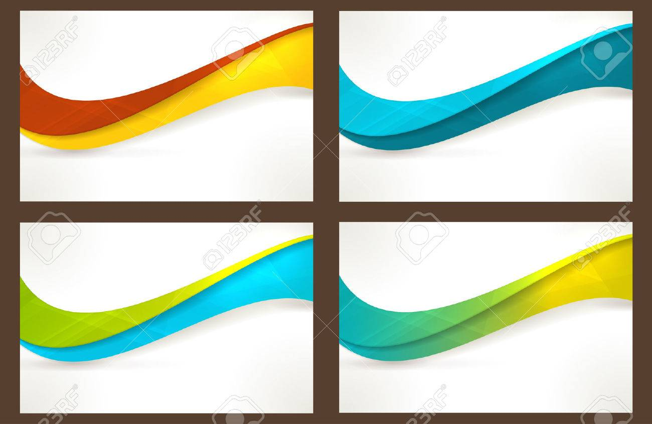 Wavy pattern in various bright colors with copy space. Can be used for business cards, website headers, brochures or any marketing material that needs a fresh, modern, textured wave pattern. - 24915711