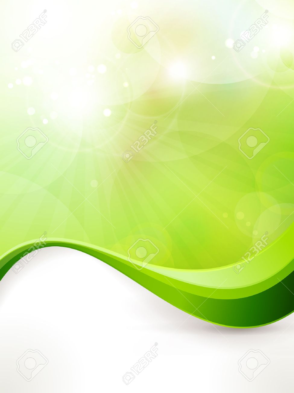 Light Green Vector Background With Blurred Lights Light Effects