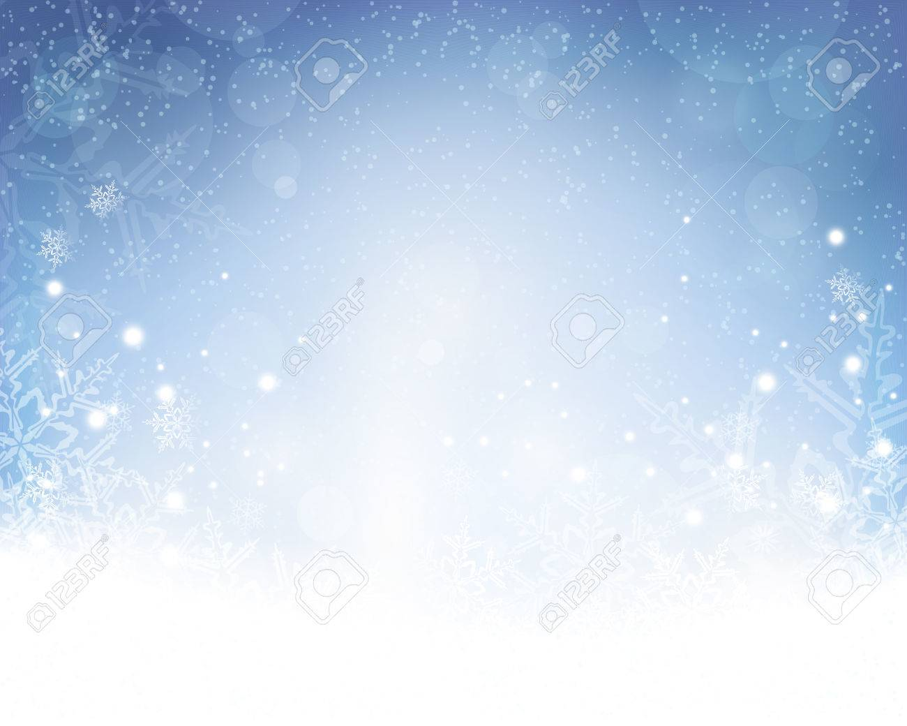 Festive Blue White Background With Stars, Snowflakes, Out Of ... for Light Effects White Background  54lyp