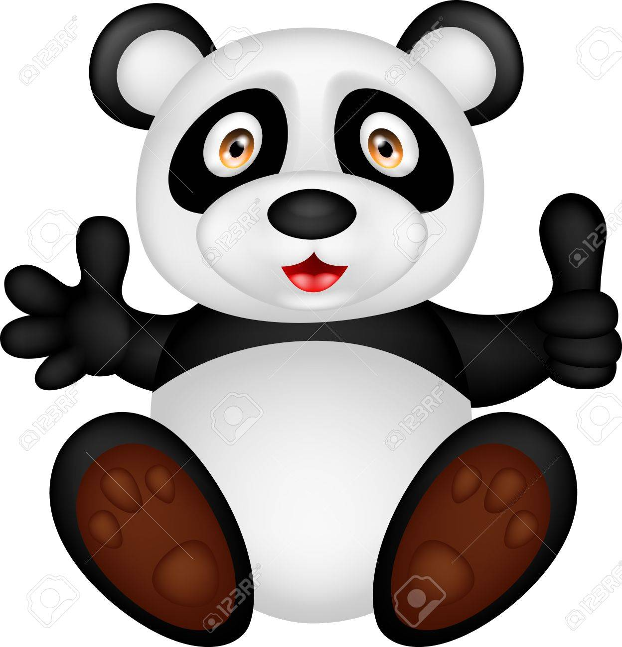illustration of baby panda with thumb up Stock Vector - 17564592