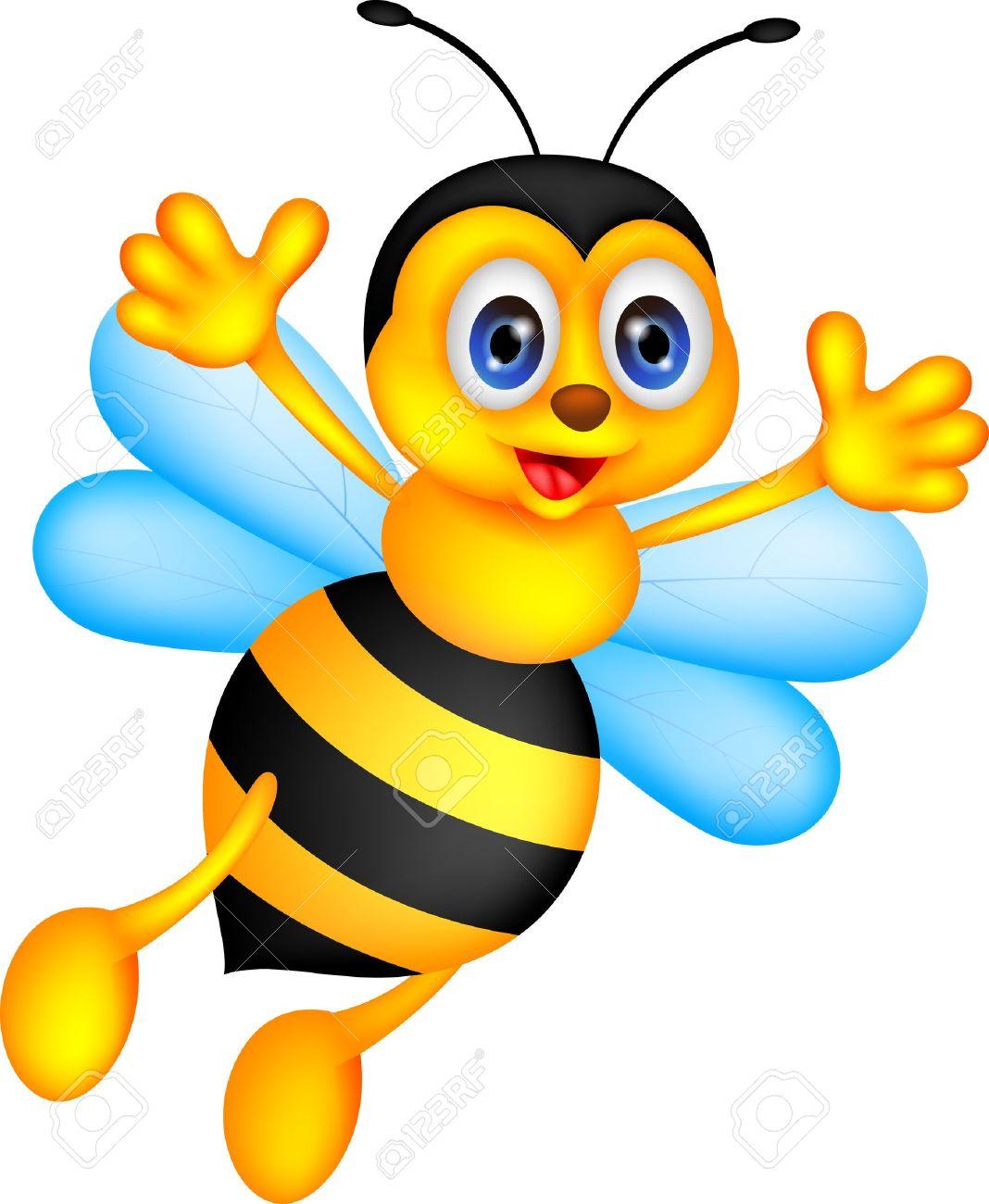 vector illustration of funny bee cartoon Stock Vector - 17983729