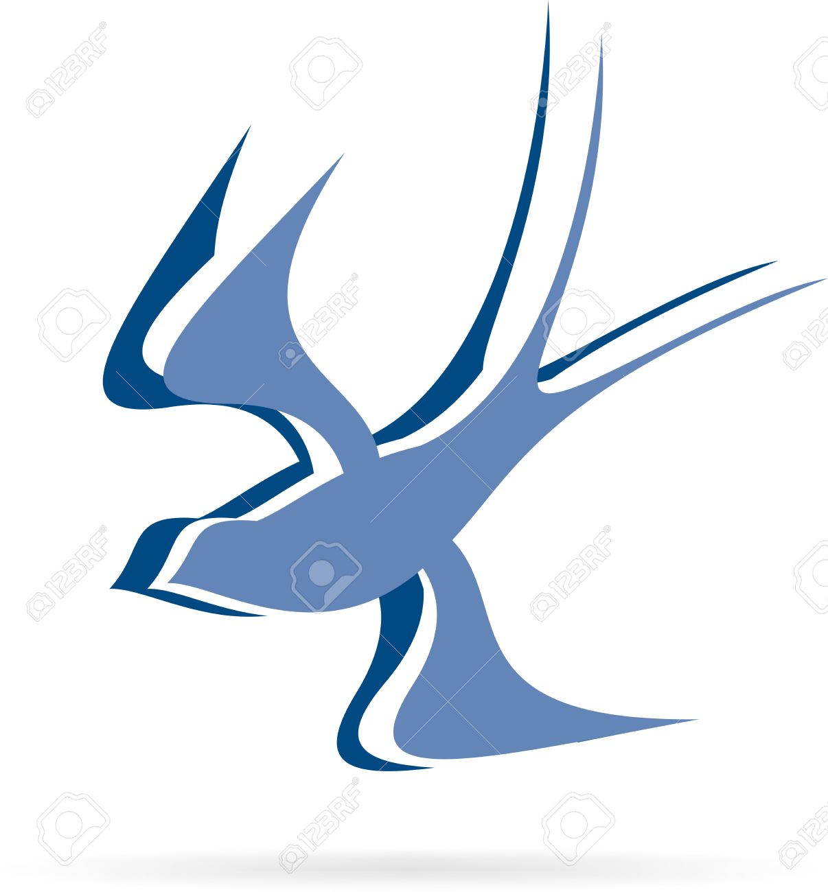 logo flying bird Stock Vector - 20191250