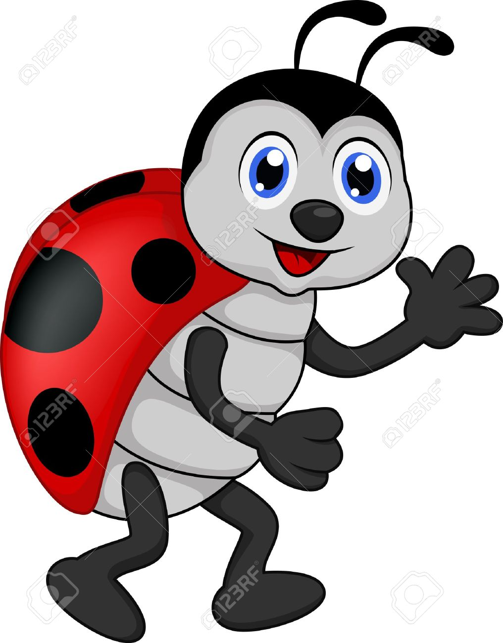 Good Funny Lady Bug Cartoon