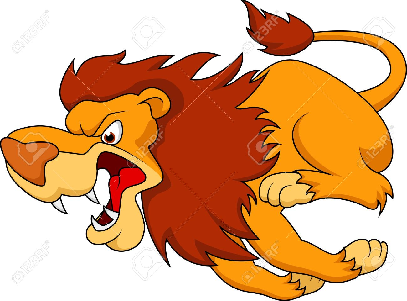 lion cartoon running Stock Vector - 21193855