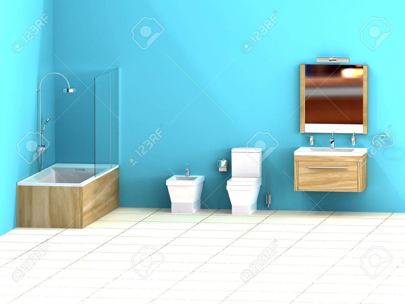 Piastrelle bagno azzurre: idee di abbinamento di colori per pareti