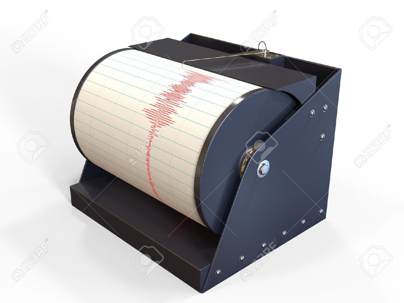 Seismograph instrument recording ground motion during earthquake Stock Photo - 17930555
