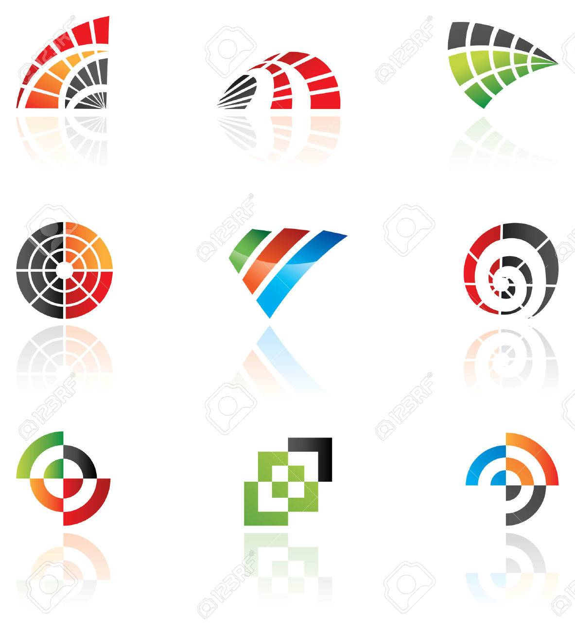 Various logos to go with your company name Stock Vector - 2921192