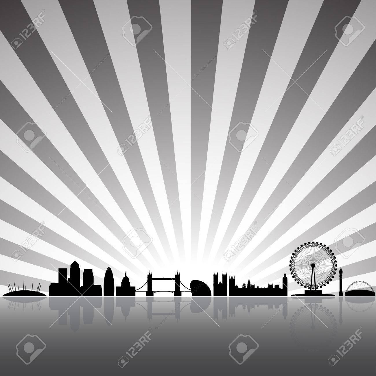 London skyline silhouette on a sunny background Stock Vector - 3915591