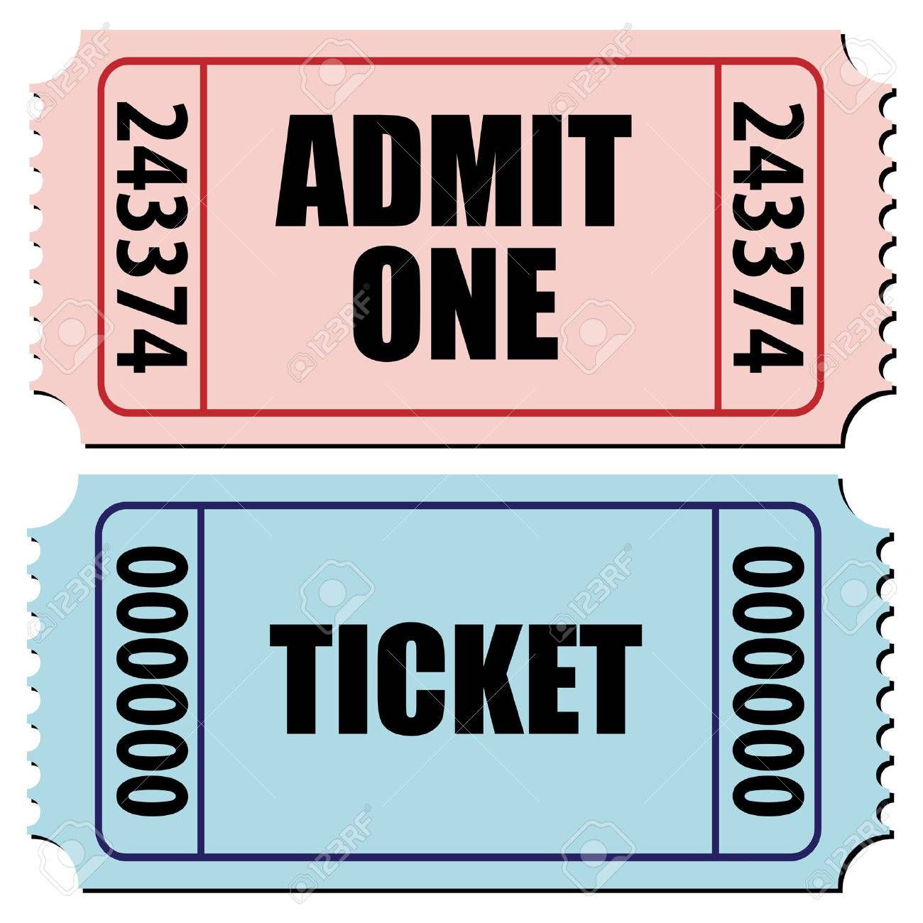 vector illustration of a pair of tickets isolated on white Stock Vector - 4206800