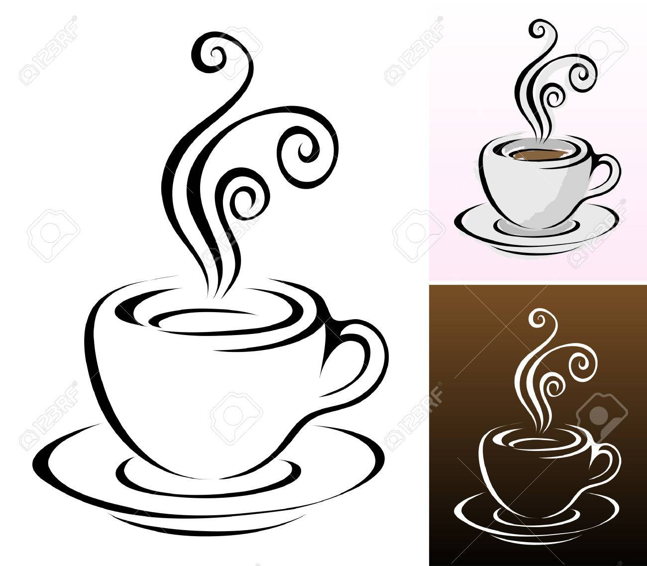 coffee cups icons in different colours & styles Stock Vector - 4206807