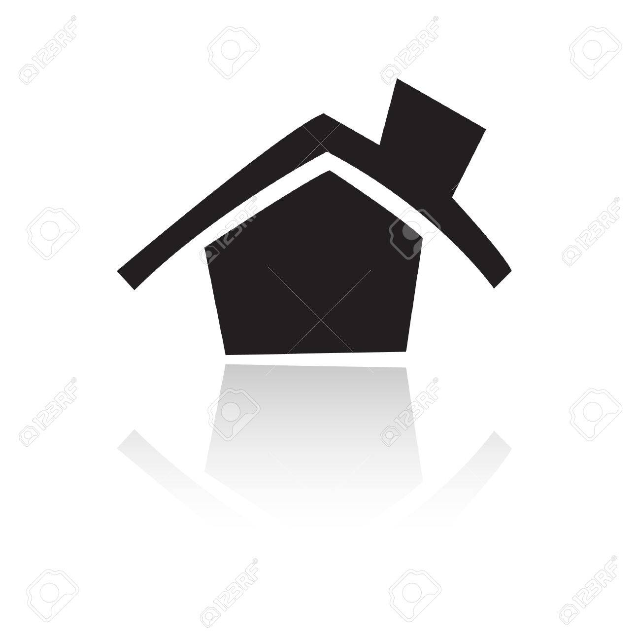 Black home isolated on white Stock Vector - 7276486