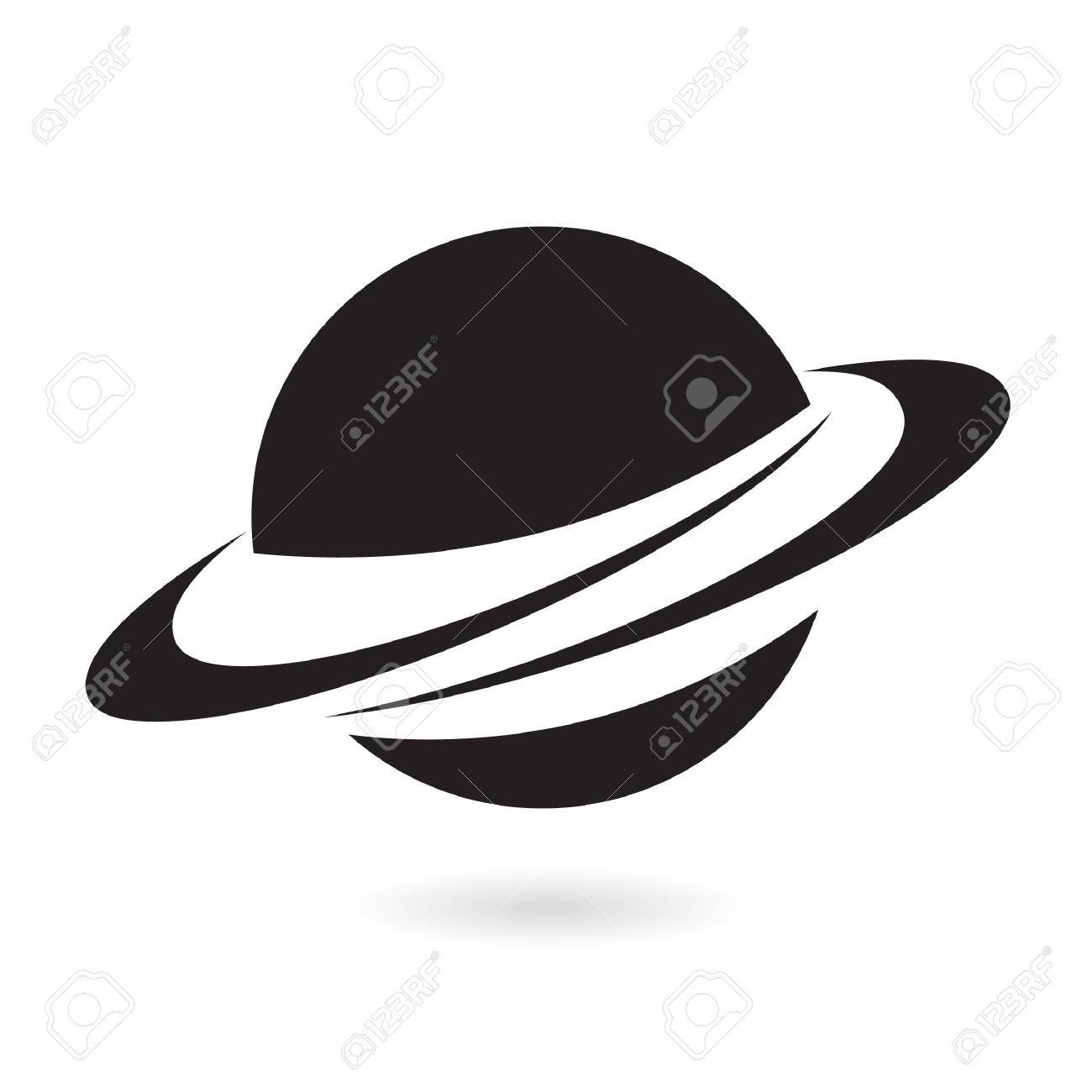 Black planet isolated on white Stock Vector - 7276448